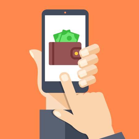 Page de l'application Wallet sur l'écran Smartphone Banque d'images - 50576541