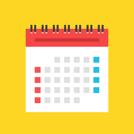 Calendar flat icon. US version. Vector illustration Ilustrace