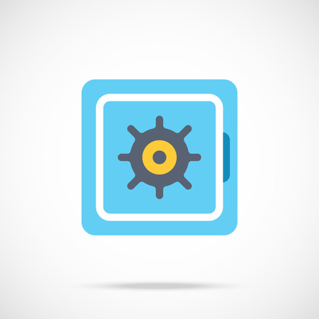 Vector safe icon Illustration