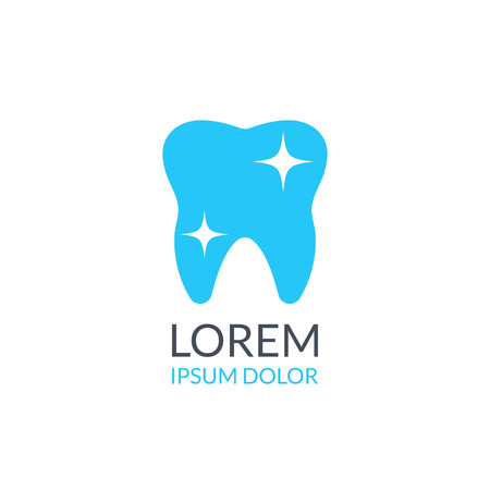 blue tooth: Dental logo. Dental clinic logo. Blue tooth icon vector logo isolated on white background Illustration