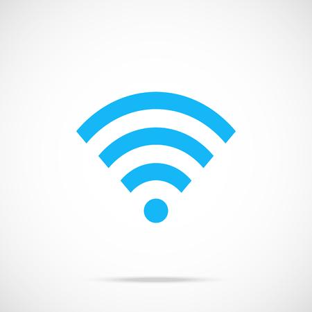 wifi: Vector wifi icon. Flat wifi icon. Flat design vector illustration