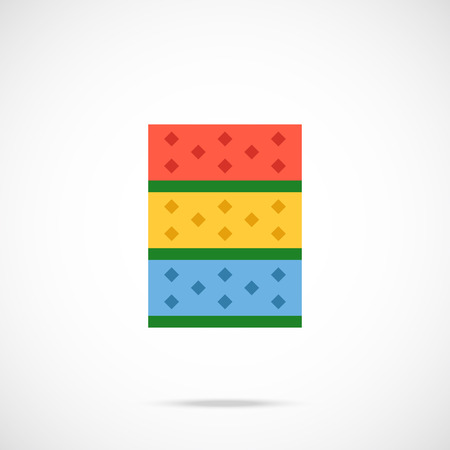 sponges: Kitchen sponges flat icon. Vector illustration