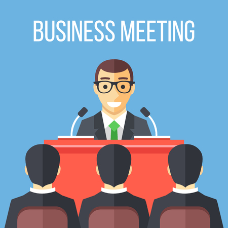 business conference: Business meeting, speech, business conference.