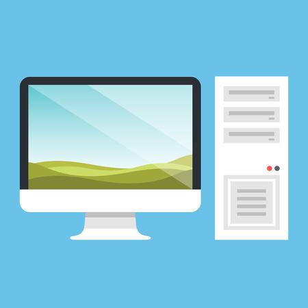 personal computer: Vector personal computer. PC vector illustration
