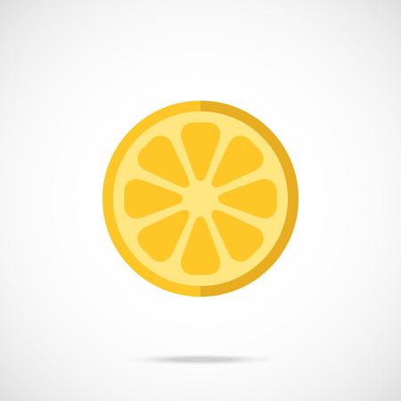 lemon slice: Vector lemon slice, lemon circle flat icon Illustration