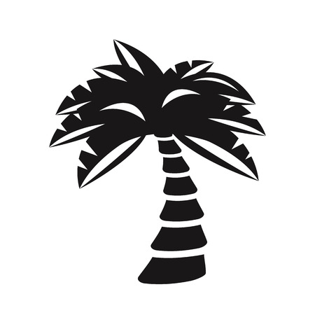 tree silhouette: Vector palm tree silhouette. Black color. Vector illustration Illustration