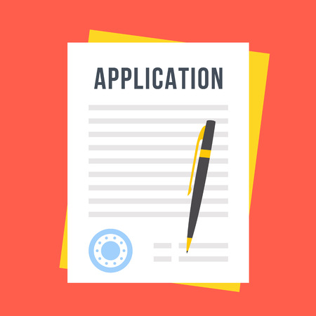 application icon: Vector application form