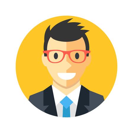 account executive: man round icon Illustration