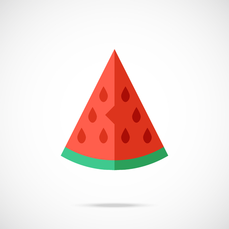 watermelon slice: Vector watermelon slice icon