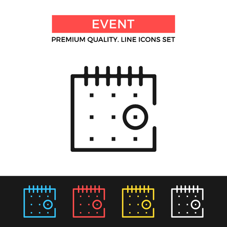 event icon: Vector event icon. Thin line icon