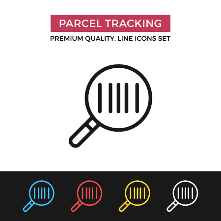 order: Vector parcel tracking icon. Thin line icon