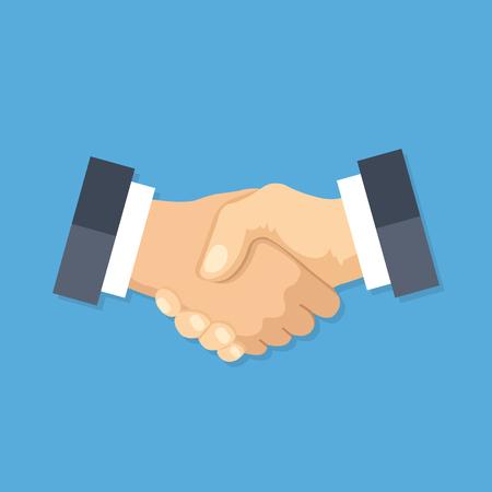 Icono de apretón de manos. Estrechar manos, acuerdo, buen trato, conceptos de asociación. Calidad premium. Elementos gráficos modernos de diseño plano. Ilustración vectorial