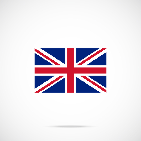 UK flag icon. The British flag. United kingdom, Union Jack concepts. Official color scheme. Premium quality. Vector illustration Illustration