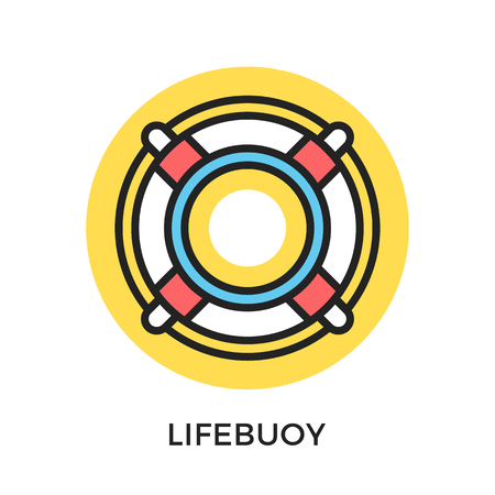 Lifebuoy icon. Life buoy, lifesaver ring. Modern flat design thin line concepts and elements. Vector icon