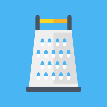 grater: Vector grater. Cheese grater icon. Flat design vector illustration Illustration