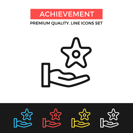 Vector achievement icon. Reward, award concepts. Premium quality graphic design. Modern signs, outline symbols collection, simple thin line icons set