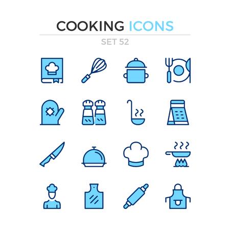 Cooking icons. Vector line icons set. Premium quality. Simple thin line design. Modern outline symbols, pictograms. Banque d'images - 120627903