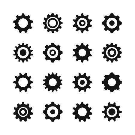 Gear icons. Vector icons set Banque d'images - 121498708