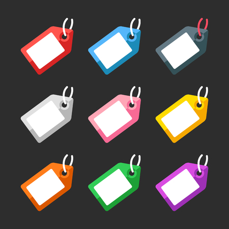 Labels and price tags set. Flat design. Vector illustration Banque d'images - 121498719