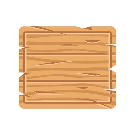 Rectangle wooden signboard. Wood signage, wood board. Vector illustration Banque d'images - 121498721