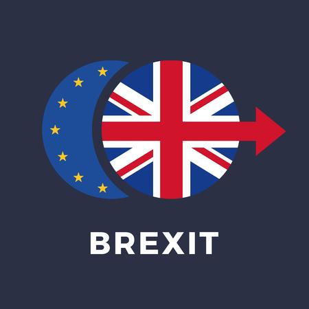 Brexit. United Kingdom leaving European Union. Vector illustration
