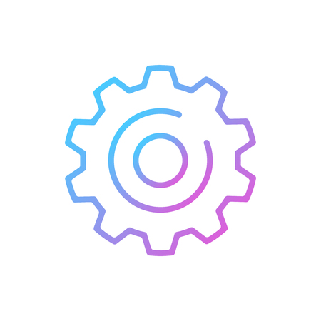 Gear icon isolated on white background 写真素材 - 124095356