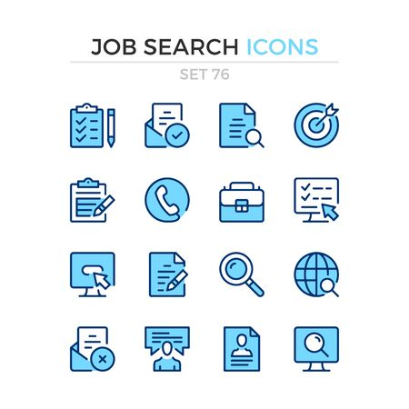 Job search icons. Vector line icons set. Premium quality. Simple thin line design. Modern outline symbols collection, pictograms.