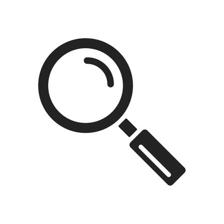 Magnifying glass icon. Magnifier, lope symbol isolated on white background Ilustração