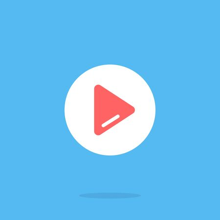 Play button. Vector graphic elements. Flat design. Play icon 向量圖像