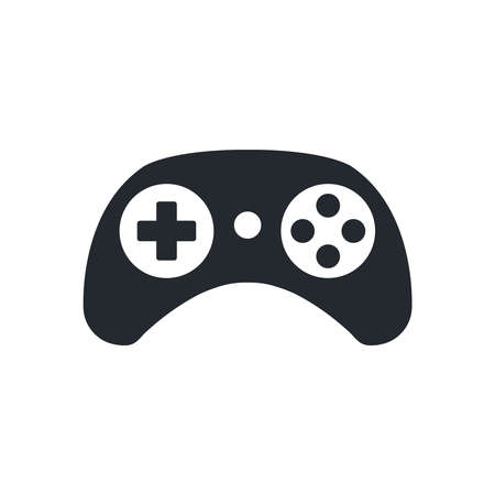 Gamepad icon. Game controller symbol. Play video games concept. Black color. Vector icon isolated on white background Ilustração