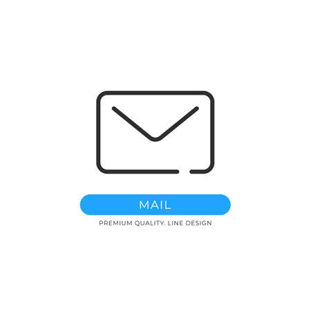 Mail icon. Electronic mail, envelope, send email, letter, e-mail concepts. Premium quality graphic design element. Modern sign, linear pictogram, outline symbol, simple vector thin line icon