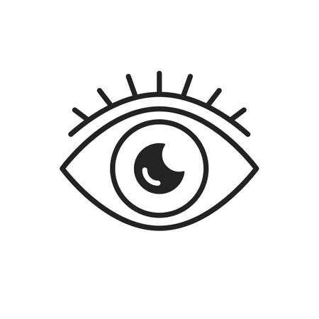 Eye icon. Vector thin line icon