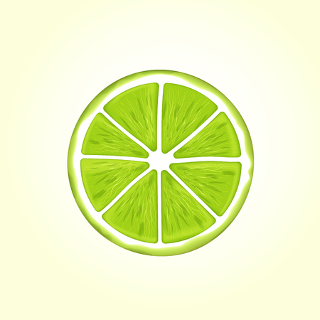 Green realistic lime illustration