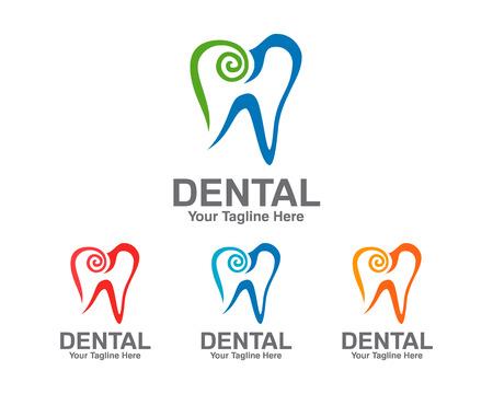 dental implants: Dental Logo template. Dentist Logo vector. Symbol of Dental Clinic . Illustration
