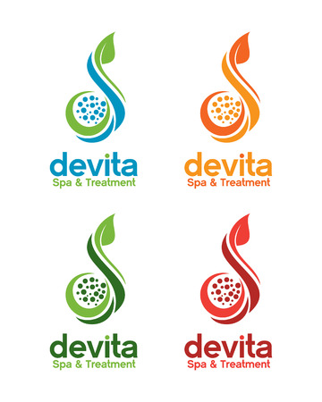 treatment plant: Spa and beauty logo template. Treatment and relaxation vector design. Illustration