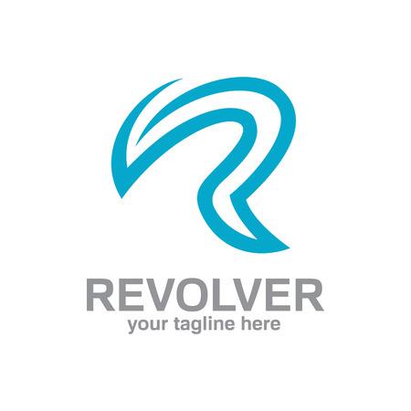 Lettre R logo modèle. Une conception simple et propre du vecteur de conception de logo lettre R. Banque d'images - 41064271