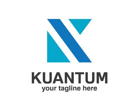 buchstabe k: Business Corporate Buchstaben K Logo-Design-Vorlage. Quadratische Form letter k logo. Einfaches und sauberes Design der Buchstabe K logo vector. Illustration