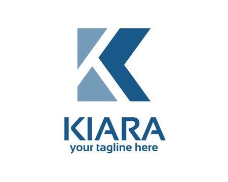 Business corporate Buchstaben K Logo-Design-Vorlage. Einfache und saubere flache Design der Buchstabe K logo Vektor-Vorlage. Standard-Bild - 42037551