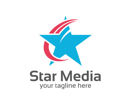 Abstracte ster logo template. Ster vector logo design branding huisstijl. Eenvoudige moderne ster vector. Stock Illustratie