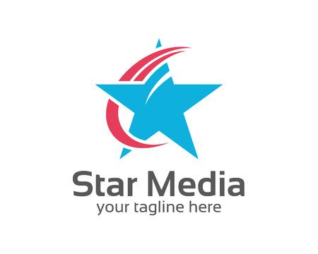 Abstraktní hvězda logo šablony. Hvězda vektorové logo design značky corporate identity. Jednoduchý moderní hvězda vektor. Ilustrace