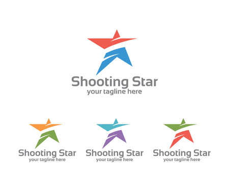 estrella: Modelo de la identidad empresarial abstracto de la estrella. Diseño del vector de la estrella marca la identidad corporativa. Sencillo vector estrellas moderno.