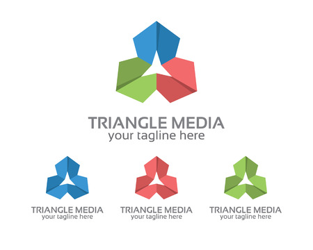 trinity: Abstract triangle  design vector for business corporate identity. Simple and clean flat design triangle icon vector.