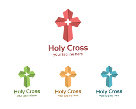 holy cross: Abstract symbol cross  template for churches and Christian organizations.