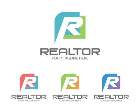 Collectief letter R ontwerp sjabloon. Eenvoudig en schoon platte ontwerp van de letter R logo vector template. Letter R logo voor het bedrijfsleven. Stock Illustratie
