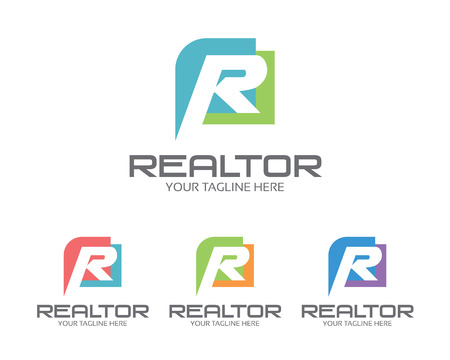 logos empresa: Negocios carta corporativa R logotipo de la plantilla de diseño. Diseño plano simple y limpia de la letra R plantilla de logotipo vectorial. Letra R logo para los negocios.