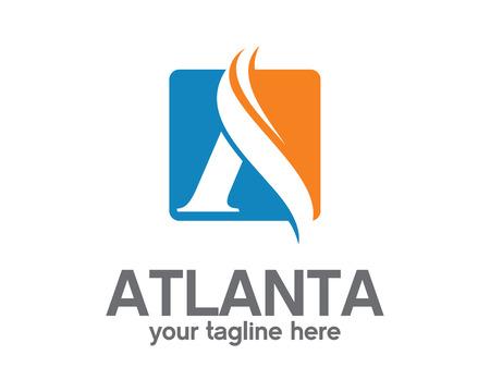 Collectief letter A logo ontwerp sjabloon. Eenvoudig en schoon platte ontwerp van de brief A logo vector template. Letter Een logo voor het bedrijfsleven.