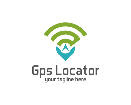 GPS locator design vector template. Pin maps symbol vector . Gps icon design vector. Simple clean design Gps locator logo vector.