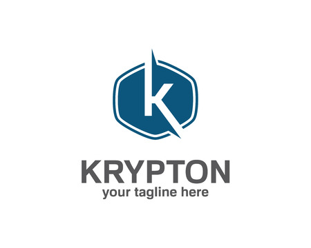 simple logo: Business corporate letter K logo design template. Simple and clean flat design of letter K logo vector template.