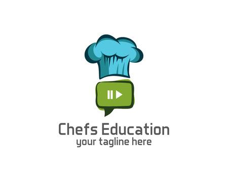Chef-Logo-Design-Vektor-Vorlage. Chef Hut Symbol Vektor. Koch-Design-Vektor. Einfaches sauberes Design Koch Logo Vektor. Standard-Bild - 49829180