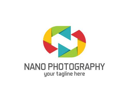 abstract aperture: Photography logo design vector template. Camera lens symbol vector . Digital Photo  design vector. Simple clean design photography logo vector.